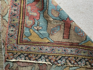 "Northwest Persian fragment- probably bakshiash.  About 34"" x 97"" great design elements. As found."