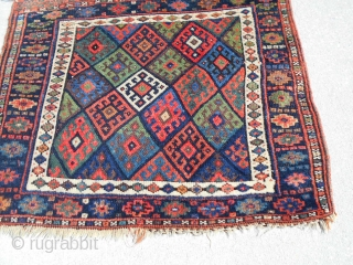 30X26inch  Antique Jaf Kurd Bag Face. Nice clean dyes. Good size. 