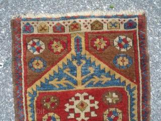 1' 9'' x 3' 2'' - c. 19th Century Yastik - Good condition & pile - Good colors. $425