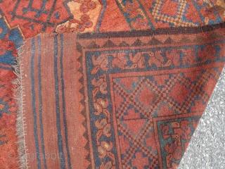 7' 6'' x 11' 1'' - c. 19th Century Afghan - Good Colors.  $2,250.