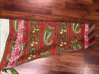 Beautiful 19th century Uzbek silk on silk Ikat Chapan( coat). Excellent natural colours and perfect condition.