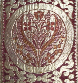 Beautiful early 19th century Bukhara Uzbek gold silk plated brocade panel. Excellent stitches and colours. Very rare piece, It has  backing already (for hanging) collectable piece.  Offer fair price. The  ...