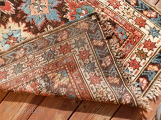 CAUCASIAN BLOSSOM CARPET- NICE 3 X4 FOOT SIZE - ALL ORIGINAL AS FOUND -