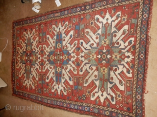 I WANT TO SELL THIS KAZAK - LARGE WITH 3 NICE MEDALLIONS -166 CM X 250 CM - ALL NATURAL DYES 