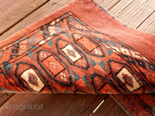 YOMUD MAFRASH..RARE DESIGN...FULL PILE......THE RED  CHEMICAL DYE IS THE REASON ITS ONLY 