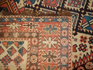 dagestan prayer rug in  superb as found original condition with a 2 headed snake in the prayer mihrab - a  quality village weaving product- 42 x 52 inches