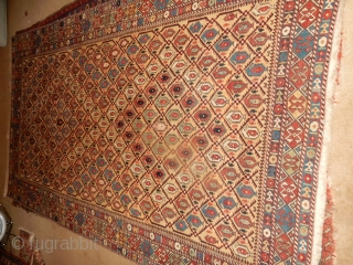 MARASALI - LARGE 5+ FT X 7+ FT - ONE OF A KIND AND A FINE OLD RUG
