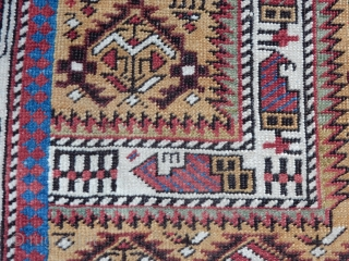 OPPORTUNITY FOR A COLLECTOR TO BUY A FINE GOLD FIELD MARASALI PRAYER RUG WITH GOOD PILE FOR A BARGAIN PRICE OF $1150 - SIDES HAVE BEEN REBOUND AND A BIT OF END DAMAGE- ALL  ...