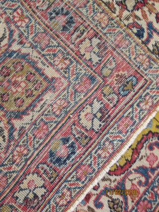 small sarouk? with a yellow field. no repairs,  3 ft x 4 ft ,just a bit of wear-$475.