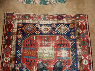 44 X 92 INCH - BEST DESIGN , WOOL QUALITY , AND DYES - PLENTY OF WEAR