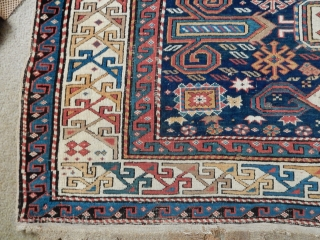 ESTATE RUG- 4 X 7 1/2 FT - GOOD EVEN PILE WITH A BIT OF DAMAGE - NOW ON EBAY