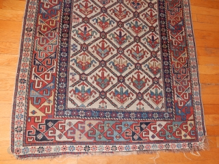 SHIRVAN PRAYER RUG - FROM BOYLSTONASSOCIATES@GMAIL.COM-UNTOUCHED EXCELLENT+ CONDITION- FINE GREEN TREES IN THE HANDS -    FROM MY OWN HOME- 40 X 70 INCHES - ALL GOOD DYES