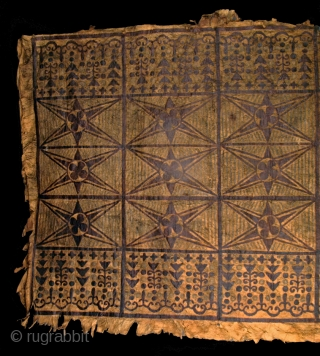 "19th century Samoan Tapa (bark cloth) Skirt, Polynesia. dimensions: 67.5"" x 41"".
