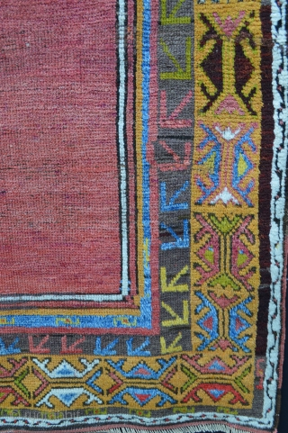 Konya prayer-rug with stunning red field and golden-yellow mihrab - 1.63 x 1.07m 