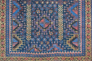 Lovely small Baluch rug of the Ferdows region, south-east Persia circa 1900.