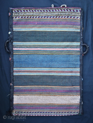 Qashqa'i Darrehshuri storage-bag in excellent condition complete with back. 