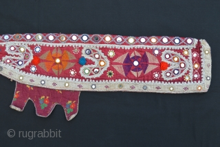 Rare embroidered Baluchi rifle-cover in very good condition.