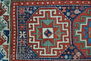 Stunning vegetable-dye Moghan long rug in very good condition.