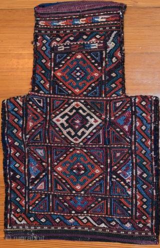 Kordi (Khorassan Kurdish) flatweave salt bag. Early 1900s.