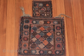 Shahsavan Salt Bag. Intact except for a  small patch in one corner.   1st quarter 1900s. 23.5x17 inches.