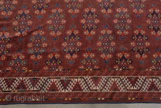 Antique turkmen Yomut rug