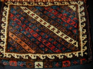 Luri/Bakhtiari Small Piled Bag. Late 19th c. All natural colours. 30 x 25 cms.