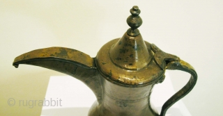 Brass Dallah. Syria, Circa 1900. H = 20 cms