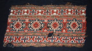 Moghan Shahsavan sumack mafrash long panel. Cm 53X102. Lovely, antique sumack mafrash long panel easily attributed to the Shahsavan tribes of the Moghan plaines. Size is cm 53x102. Second half 19th century.  ...