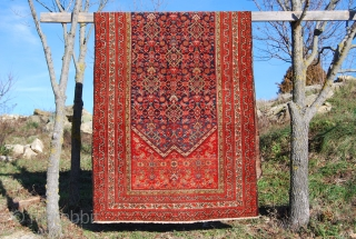 Malayer rug, cm 148x356, good age, good colors, good condition..