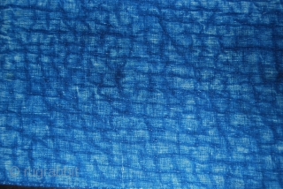 Shahsavan strips. One is a wool cicim, size cm 38x198 or in 15x78 ca, while the second one is an indigo dyed cotton, size being cm 36x246 or in 14x97 ca. The  ...