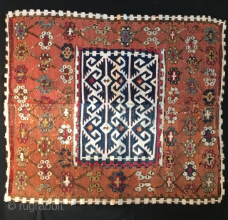 Reyhanli tribal group kilim medallion fragment. Eastern Anatolia. Cm 76x86. Second half 19th century...1850/1860sh?! Great pattern, great graphic, great colors, great fragment.....