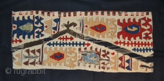 Two Konya/Aksaray kilim fragments. Cm 31x72/32x63. 2nd half 19th c. Great colors. Get one or both. Not expensive.