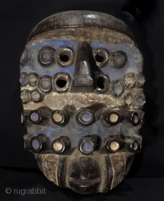 "Powerful Guere mask. Together with the neighboring Wobe they are often referred as We, ""the men who easily forgive"". Ivory Coast/Liberia. This is a war mask for its ferocious aspect. We carvers  ..."