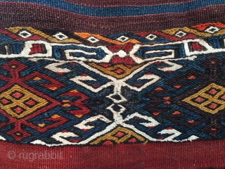 Have a better look! It's an awesome piece! An East Anatolian open cuval. Cm 110x140. Datable 1890/1910. Great primitive drawing. Wonderful natural saturated colors. Lots of aubergine, nice, deep madder red, a  ...