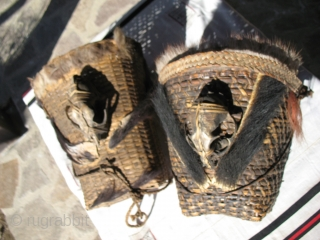 Two Naga head basket bought during last Naga festival held in north-western Myanmar mid January 2012.