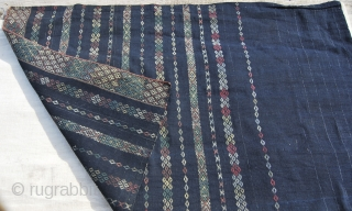 """Burma/Myanmar. The wonderful textiles by the Chin tribal groups. This is a special occasion loincloth called """"Biar Pi"""" by the Northern Chin group Haka and is made of three pieces joined. The total  ..."""