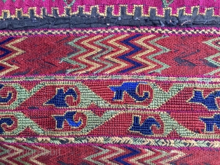 Kohistan woman dress front. Cm 60x70. Datable to the 1920s/1930s. Silk embroidery on cotton. Kafiristan/Nuristan/Kohistan woman dress fragment. Early 20th century. Kafiristan means land of infidels, Nuristan means land of light and  ...