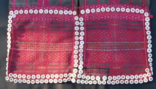 "Asho woman tunic called ""laytu kengkrang"". The Asho are a sub tribe of the bigger tribal group of Chin, Burma. Early to mid 20th century. Good condition. In the first pic an  ..."