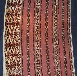 Turkmen Tekke Ak cuval. In great condition, with original back. Wool + wool. More infos & pics on rq.