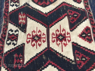Sinanli Malatya kilim strip. Cm 90x415. The Sinanli were a subtribe of the bigger and better known Reshwani group. They were great weavers and dyers. - Second half 19th c. Wool, cotton  ...