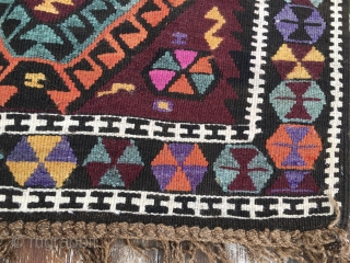 Kars area kilim, Eastern Anatolia, Turkey, cm 430x150, beautiful, long piece, early 20th century, in good condition. Clearance of big sizes: this is one of the many pieces that must go.