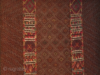 Burma textiles. Chin tribes. Khami sub tribe of the bigger Khumi group living in Rakhine and Chin States in Western Burma. Some groups live also in Bangladesh.. Woman's breast cloth. Cm 38x78.  ...