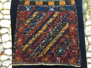 One more Shahsavan bag face! Great bag, size is cm 60x60 ca, age is end of 19th century roughly. In good condition. And at a very good price! Enjoy it.
