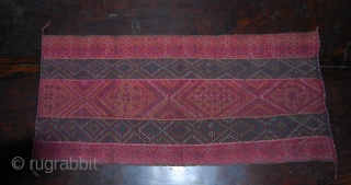 Chin tribes - Burma/Myanmar - Arang  breast cloth - Cm 60x30 ca. - These two breast clothes are from Burma. First haf 20th century. They were made by the Arang Mro  ...
