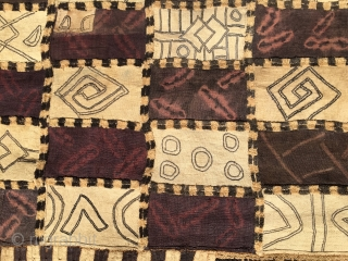 Museum quality Kuba ntschak Congo. Cm 625x85. Early 2oth c. Exceptional piece. 