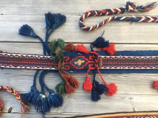 Two Anatolian cuval straps. Two little wonders. One bought 15 y ago in Turkey, the other one got from an owned cuval.