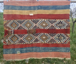East Anatolian gorgeous storage bag/cuval. Great piece, antique, super colors, still highly enjoyable. Pls ask for more pics & infos.
