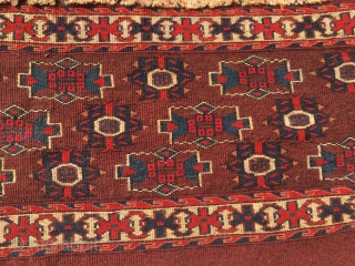 Yomut torba. Cm 44x88. Second half 19th c. In mint condition/Full pile. Great dyes, unusual pattern. Love the insect/crab border. Out an important collection. Brand new on the market. P.S……what, especially on  ...