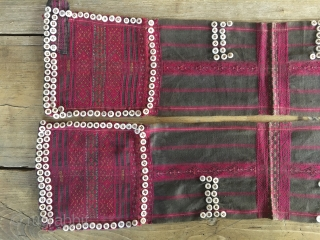 Burma/Myanmar textile. Woman 101 button tunic. Chin culture. Need to study it a bit.