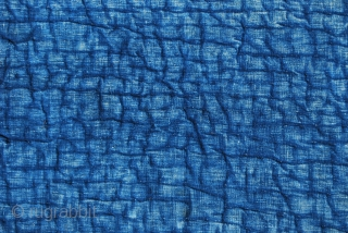 Shahsavan textile fragment. Cm 246x35. End 19th century. Great indigo . Cotton.